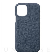 【iPhone11 Pro ケース】Shrunken-Calf Leather Shell Case (Navy)