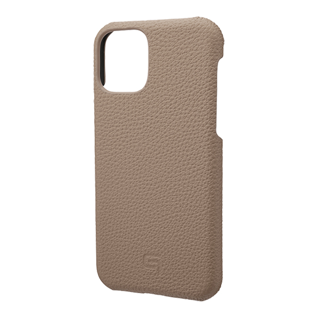 【iPhone11 Pro ケース】Shrunken-Calf Leather Shell Case (Taupe)サブ画像