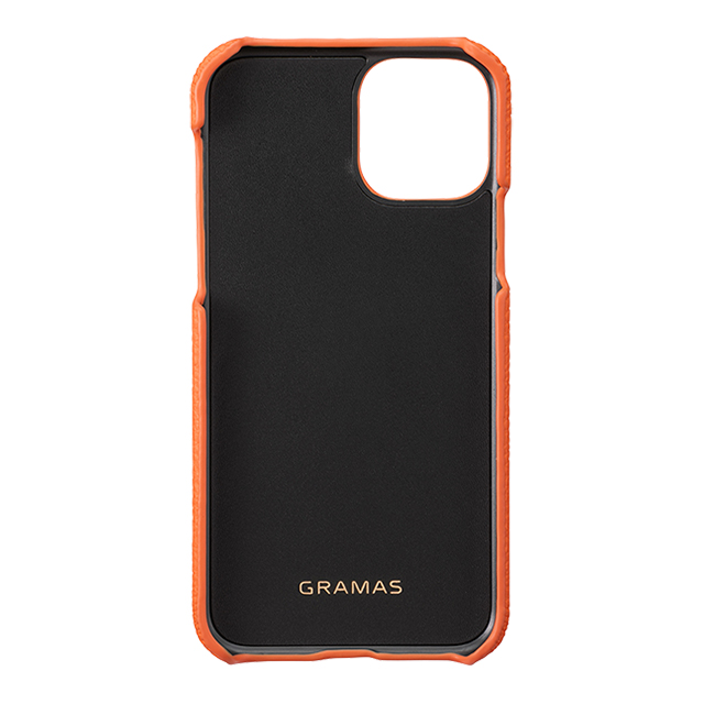 【iPhone11 Pro ケース】Shrunken-Calf Leather Shell Case (Orange)サブ画像