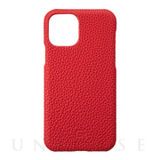 【iPhone11 Pro ケース】Shrunken-Calf Leather Shell Case (Red)