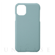 【iPhone11 ケース】Shrunken-Calf Leather Shell Case (Baby Blue)