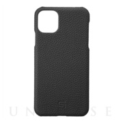 【iPhone11 Pro Max ケース】Shrunken-Calf Leather Shell Case (Black)