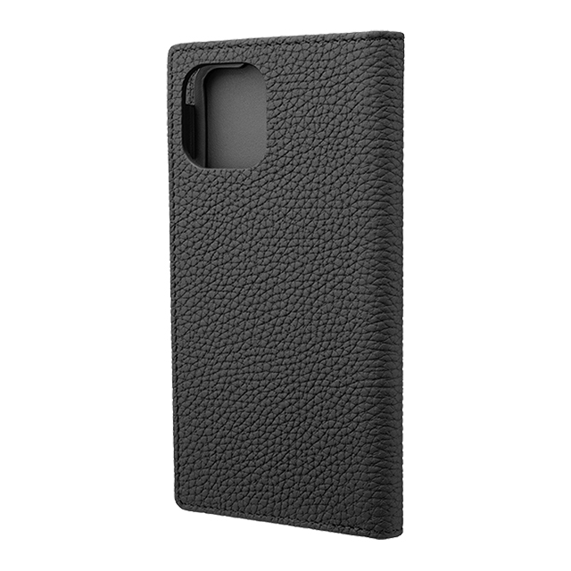 【iPhone11 Pro/XS/X ケース】Shrunken-Calf Leather Book Case (Black)サブ画像