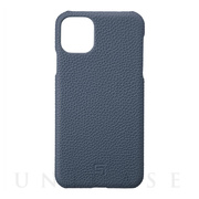 【iPhone11 Pro Max ケース】Shrunken-Calf Leather Shell Case (Navy)