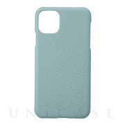 【iPhone11 Pro Max ケース】Shrunken-Calf Leather Shell Case (Baby Blue)