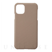 【iPhone11 Pro Max ケース】Shrunken-Calf Leather Shell Case (Taupe)