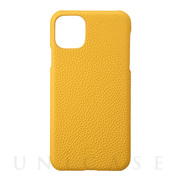 【iPhone11 Pro Max ケース】Shrunken-Calf Leather Shell Case (Yellow)