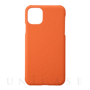 【iPhone11 Pro Max ケース】Shrunken-Calf Leather Shell Case (Orange)