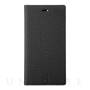 【iPhone11 Pro/XS/X ケース】Shrunken-Calf Leather Book Case (Black)