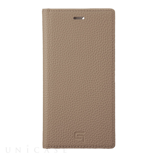 【iPhone11 Pro/XS/X ケース】Shrunken-Calf Leather Book Case (Taupe)