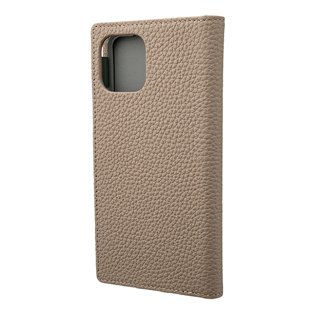 【iPhone11 Pro/XS/X ケース】Shrunken-Calf Leather Book Case (Taupe)サブ画像