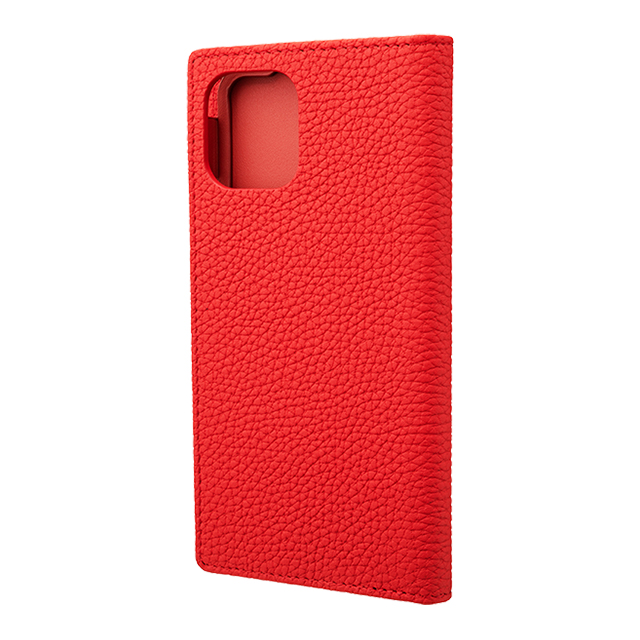 【iPhone11 Pro/XS/X ケース】Shrunken-Calf Leather Book Case (Red)サブ画像