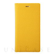 【iPhone11 Pro/XS/X ケース】Shrunken-Calf Leather Book Case (Yellow)