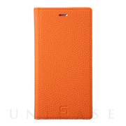 【iPhone11 Pro/XS/X ケース】Shrunken-Calf Leather Book Case (Orange)