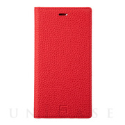 【iPhone11 Pro/XS/X ケース】Shrunken-Calf Leather Book Case (Red)