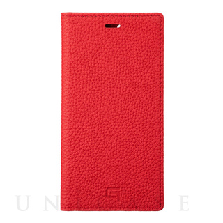【iPhone11 Pro ケース】Shrunken-Calf Leather Book Case (RED)