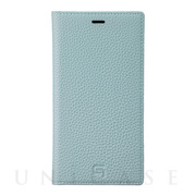 【iPhone11 ケース】Shrunken-Calf Leather Book Case (Baby Blue)