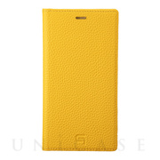 【iPhone11/XR ケース】Shrunken-Calf Leather Book Case (Yellow)