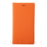 【iPhone11/XR ケース】Shrunken-Calf Leather Book Case (Orange)
