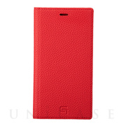 【iPhone11/XR ケース】Shrunken-Calf Leather Book Case (Red)