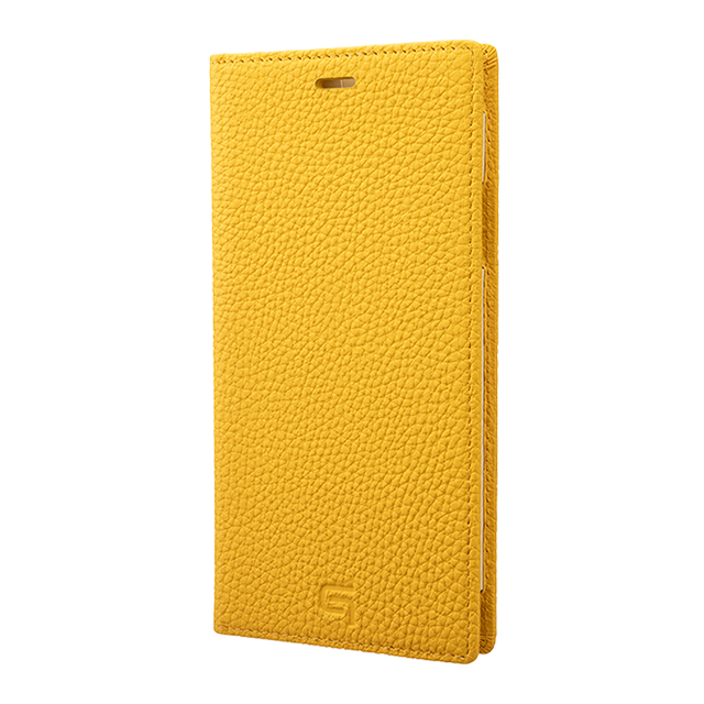 【iPhone11 Pro Max/XS Max ケース】Shrunken-Calf Leather Book Case (Yellow)サブ画像