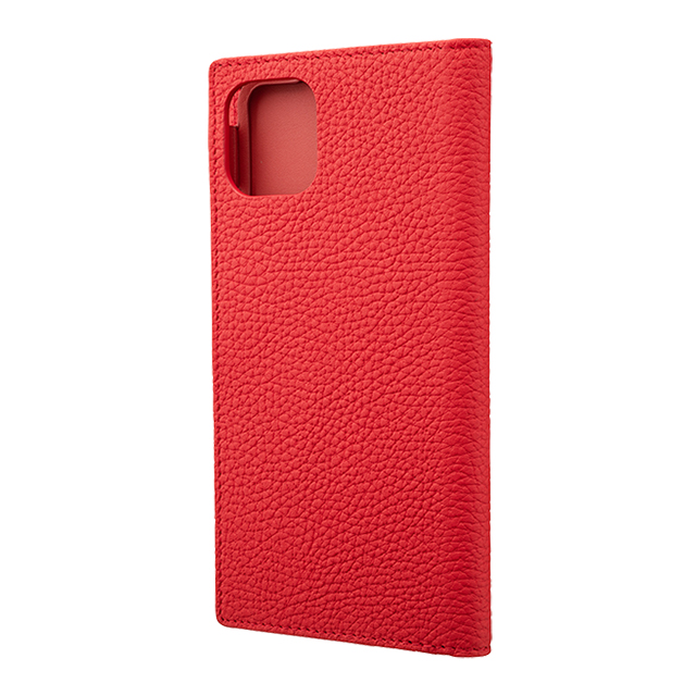【iPhone11 Pro Max/XS Max ケース】Shrunken-Calf Leather Book Case (Red)サブ画像