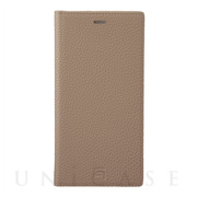 【iPhone11 Pro Max/XS Max ケース】Shrunken-Calf Leather Book Case (Taupe)