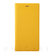 【iPhone11 Pro Max ケース】Shrunken-Calf Leather Book Case (Yellow)