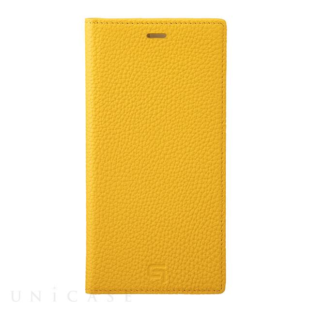 【iPhone11 Pro Max/XS Max ケース】Shrunken-Calf Leather Book Case (Yellow)