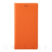 【iPhone11 Pro Max/XS Max ケース】Shrunken-Calf Leather Book Case (Orange)