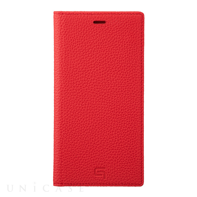 【iPhone11 Pro Max/XS Max ケース】Shrunken-Calf Leather Book Case (Red)