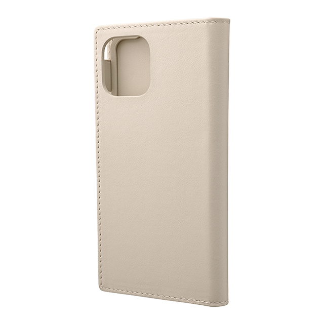 【iPhone11 Pro/XS/X ケース】Genuine Leather Book Case (Ivory)サブ画像