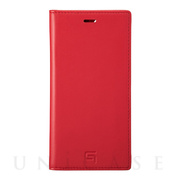 【iPhone11 Pro/XS/X ケース】Genuine Leather Book Case (Red)