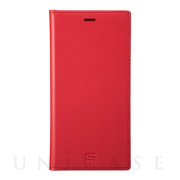 【iPhone11 Pro Max/XS Max ケース】Genuine Leather Book Case (Red)