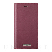 "【iPhone11 Pro/XS/X ケース】""EURO Passione"" PU Leather Book Case (Wine)"