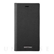 "【iPhone11/XR ケース】""EURO Passione"" PU Leather Book Case (Black)"