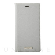 "【iPhone11/XR ケース】""EURO Passione"" PU Leather Book Case (Gray)"