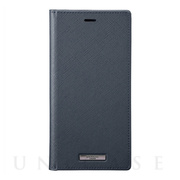 "【iPhone11 Pro Max/XS Max  ケース】""EURO Passione"" PU Leather Book Case (Navy)"