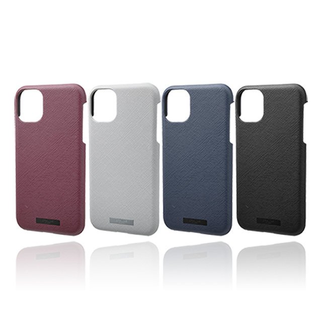 "【iPhone11 ケース】""EURO Passione"" PU Leather Shell Case (Black)サブ画像"