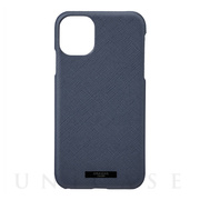 "【iPhone11 ケース】""EURO Passione"" PU Leather Shell Case (Navy)"