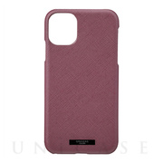 "【iPhone11/XR ケース】""EURO Passione"" PU Leather Shell Case (Wine)"