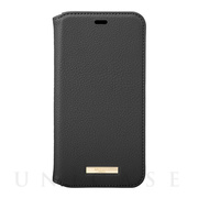 "【iPhone11 Pro ケース】""Shrink"" PU Leather Book Case (Black)"