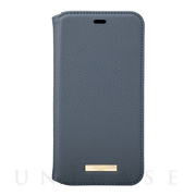 "【iPhone11 Pro ケース】""Shrink"" PU Leather Book Case (Navy)"