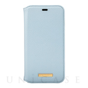 "【iPhone11 Pro ケース】""Shrink"" PU Leather Book Case (Light Blue)"