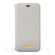 "【iPhone11 Pro ケース】""Shrink"" PU Leather Book Case (Greige)"