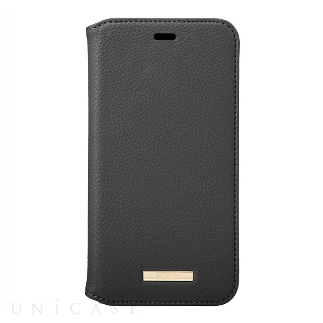 "【iPhone11 ケース】""Shrink"" PU Leather Book Case (Black)"