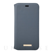 "【iPhone11 ケース】""Shrink"" PU Leather Book Case (Navy)"