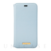 "【iPhone11 ケース】""Shrink"" PU Leather Book Case (Light Blue)"