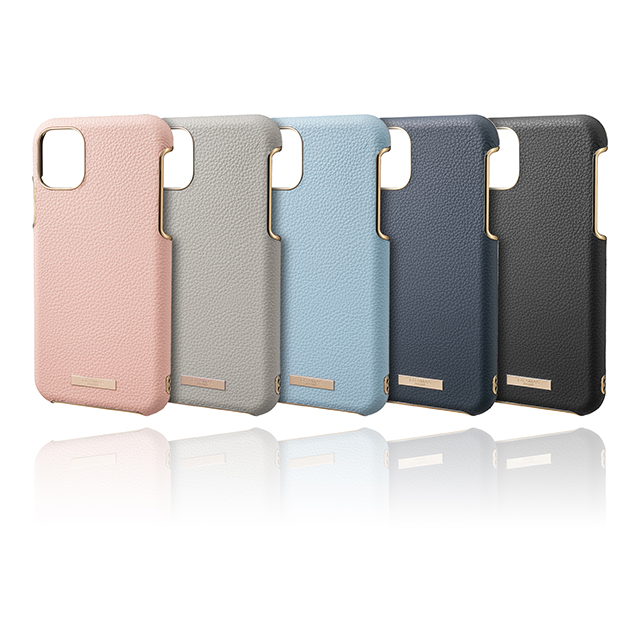 "【iPhone11 Pro ケース】""Shrink"" PU Leather Shell Case (Greige)サブ画像"