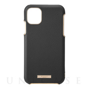 "【iPhone11 Pro ケース】""Shrink"" PU Leather Shell Case (Black)"